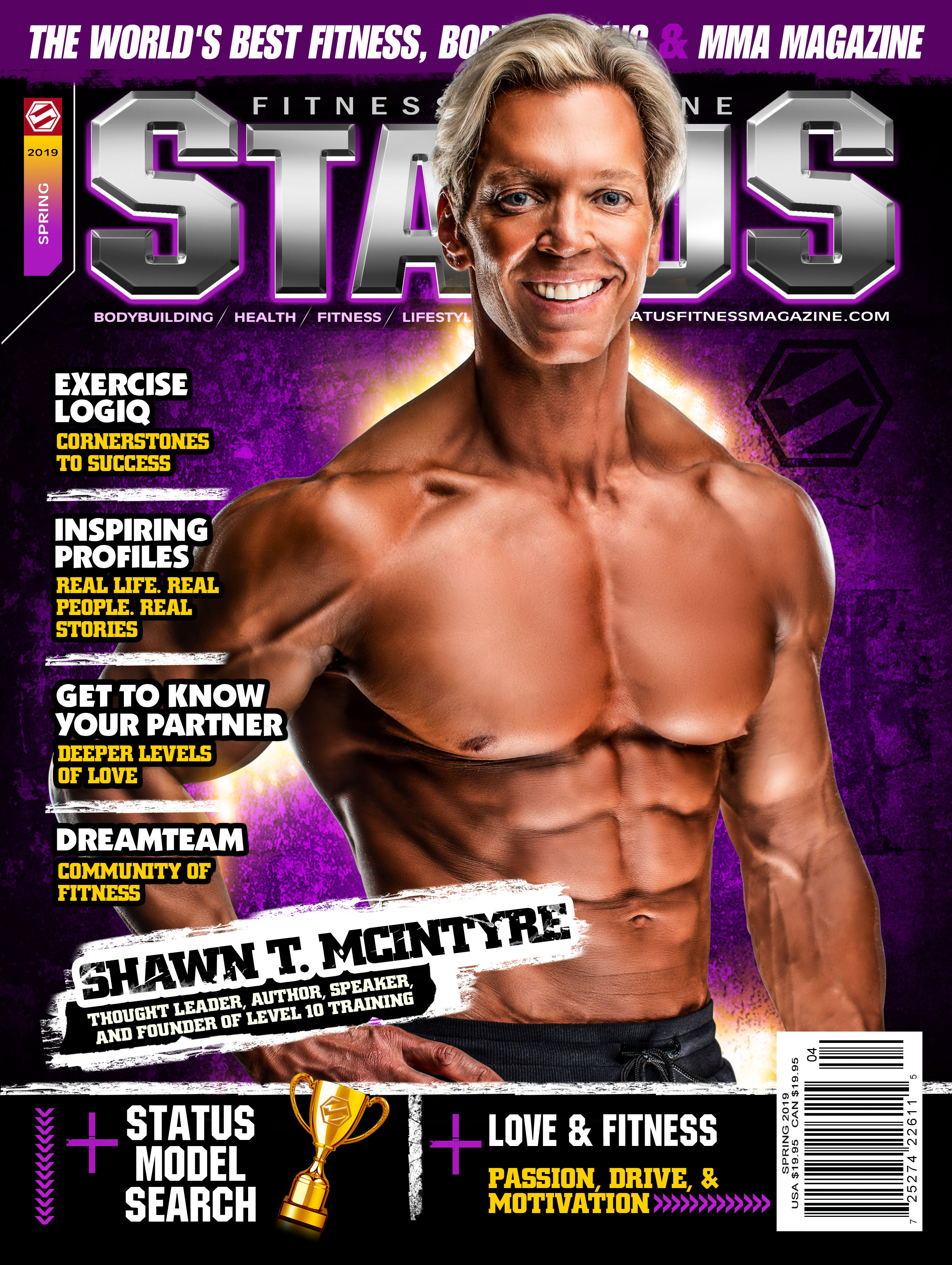 Status Fitness Magazine Cover - Spring 2019 - Shawn